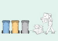 Servizio raccolta rifiuti porta a porta nella zona Arcella est