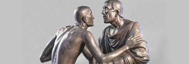 """Mostra """"Incontro e abbraccio nella scultura del Novecento da Rodin a Mitoraj"""" 380 ant"""