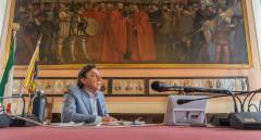 Il Sindaco durante la conferenza stampa congiunta con i Sindaci dei Capoluoghi veneti 240 ant
